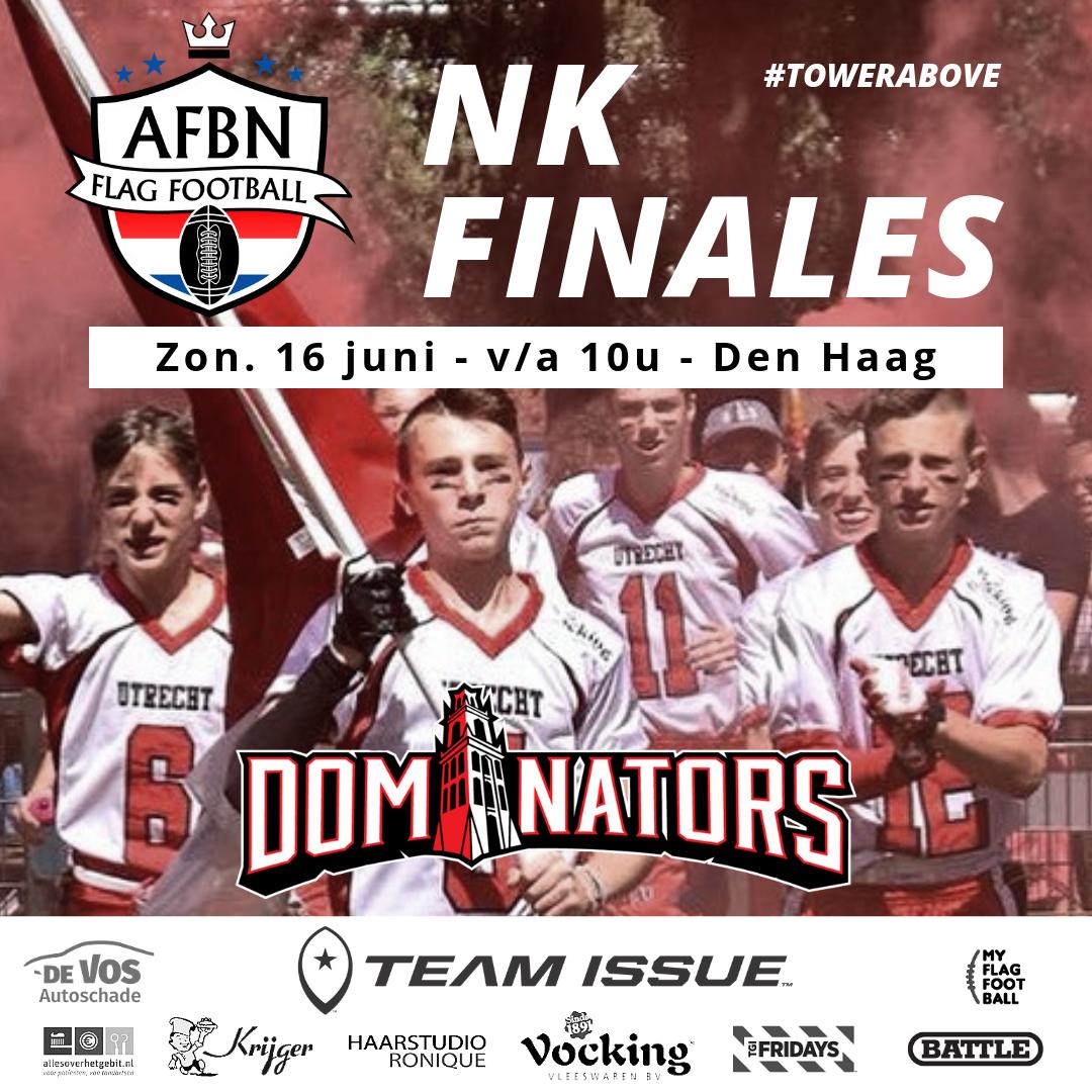 Ongeslagen Dominators o15 plaatst zich voor finale weekend NK.